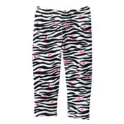 Jumping Beans Zebra and Heart Capri Leggings - Girls 4-7