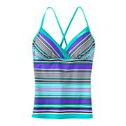 ZeroXposur Striped Tankini Top