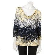 212 Collection Splatter Drapeneck Top