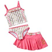 Penny M Heart 3-pc. Tankini Swimsuit Set - Girls 4-6x