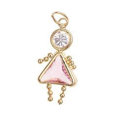 10k Gold Birthstone Babies Girl Charm