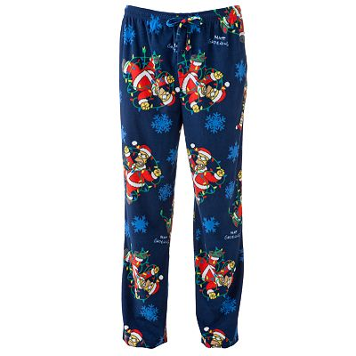 The Simpsons Homer Simpson Santa Microfleece Lounge Pants