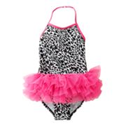 Jumping Beans Animal Halter Tutu One-Piece Swimsuit - Girls 4-7