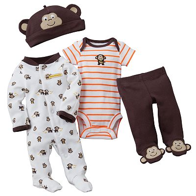 Carter's Monkey Sleep and Play Set - Preemie