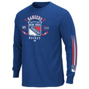 Majestic New York Rangers Cross Check Tee - Men