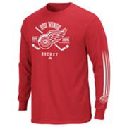 Majestic Detroit Red Wings Cross Check Tee - Men
