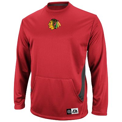 Majestic Chicago Blackhawks Checking From Behind Fleece - Men