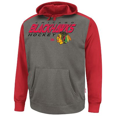 Majestic Chicago Blackhawks Blocker Therma Base Hoodie - Men