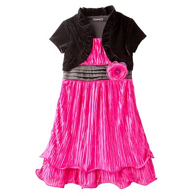 My Michelle Mock-Layer Ruched Dress - Girls 7-16