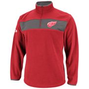 Majestic Detroit Red Wings Clipping 1/4-Zip Chiller Fleece - Men