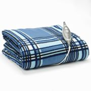 Slumber Rest Plaid Fleece Electric Throw