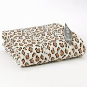 Slumber Rest Leopard Microplush Electric Throw