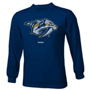 Reebok Nashville Predators Distressed Logo Tee - Boys 8-20