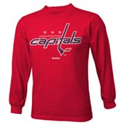 Reebok Washington Capitals Distressed Logo Tee - Boys 8-20