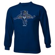 Reebok Florida Panthers Distressed Logo Tee - Boys 8-20