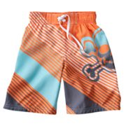 Jumping Beans Skull Striped Swim Trunks - Boys 4-7x
