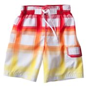 Jumping Beans Plaid Cargo Swim Trunks - Boys 4-7x