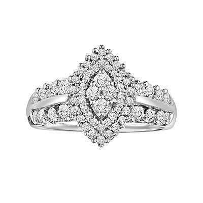 Love Always Platinum Over Silver 1-ct. T.W. Round-Cut Diamond Ring