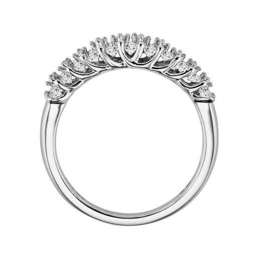 Love Always Platinum Over Silver 3/4-ct. T.W. Round-Cut Diamond Wedding Band