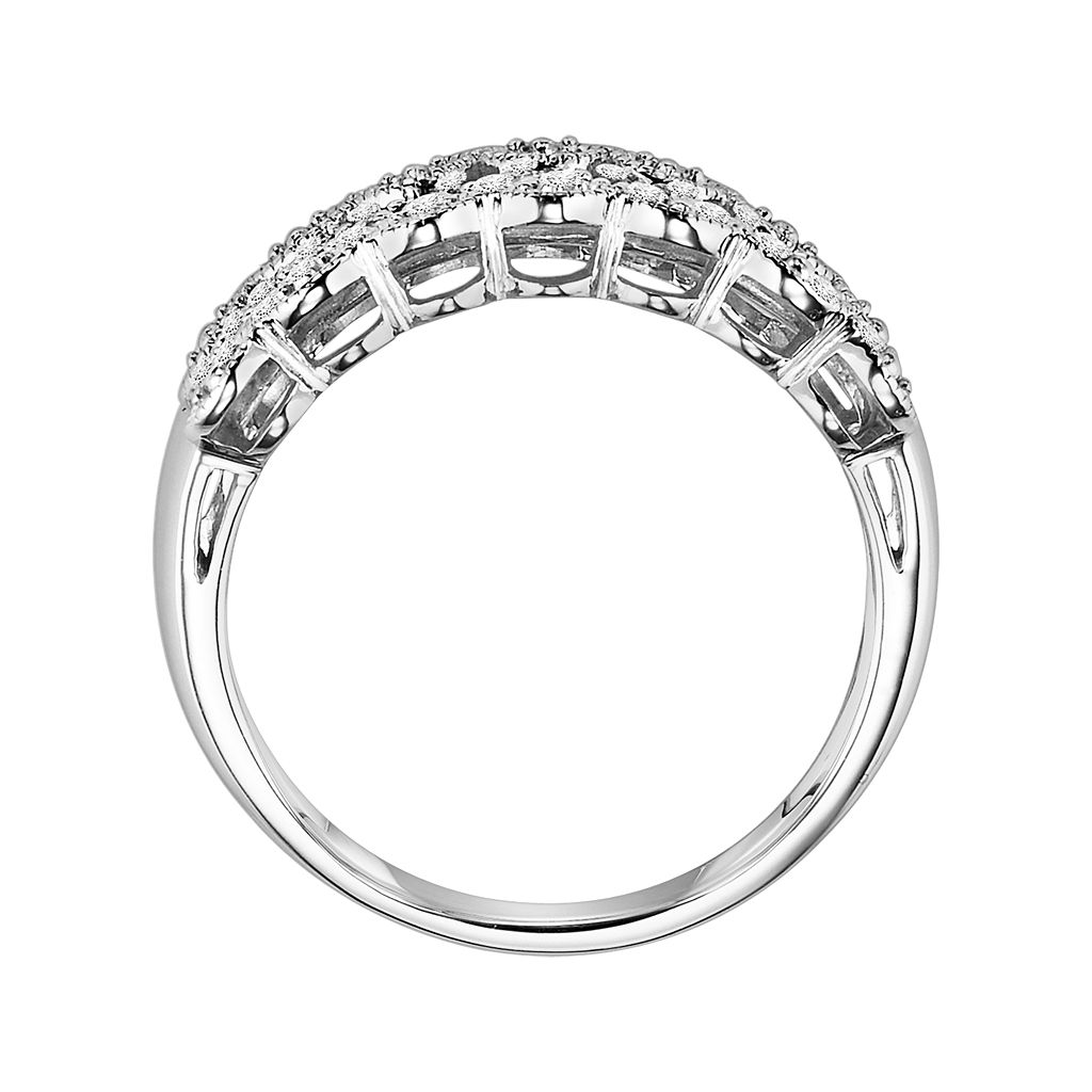 Love Always Platinum Over Silver 3/8-ct. T.W. Round-Cut Diamond Wedding Ring
