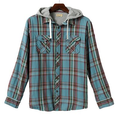 SONOMA life + style Plaid Jersey-Lined Shirt Jacket - Men