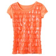 SO Neon Foil Eyelash Tee - Girls 7-16