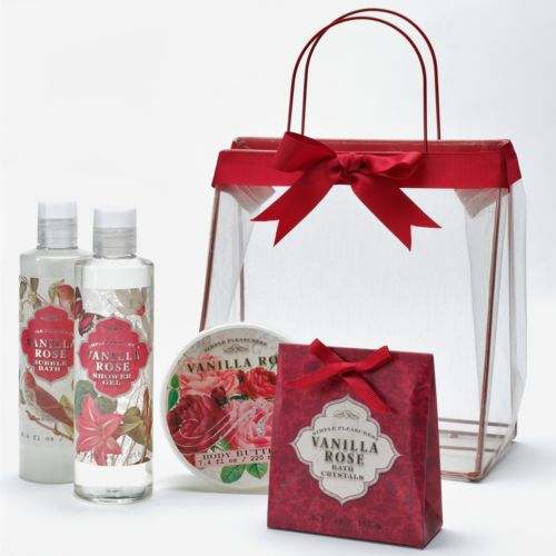 Vanilla Rose Body Butter, Bubble Bath, Bath Crystals