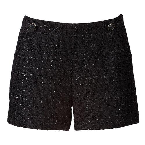 Women's Jennifer Lopez Lurex Boucle Shorts