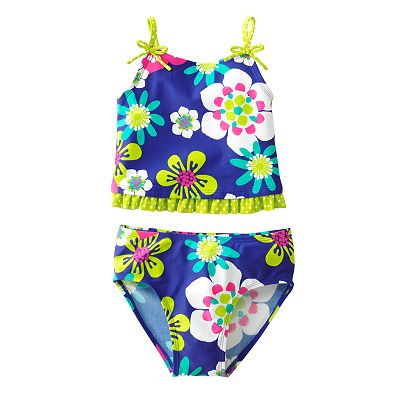 Jumping Beans Floral 2-pc. Tankini Swimsuit Set - Girls 4-7