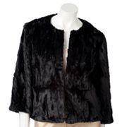 Jennifer Lopez Crinkle Faux-Fur Jacket