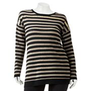 Mudd Striped Sequin Lurex Tunic - Juniors' Plus