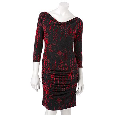 Jennifer Lopez Animal Ruched Dress - Petite