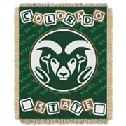 Colorado State Rams Baby Jacquard Throw by Northwest