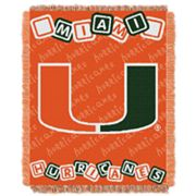 Miami Hurricanes Baby Jacquard Throw by Northwest