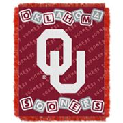 Oklahoma Sooners Baby Jacquard Throw by Northwest