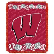 Wisconsin Badgers Baby Jacquard Throw by Northwest