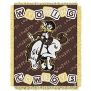Wyoming Cowboys Baby Jacquard Throw by Northwest