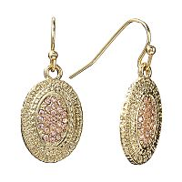 LC Lauren Conrad Textured Drop Earrings