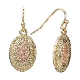 LC Lauren Conrad Textured Drop Earrings