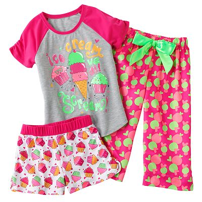 SO Ice Cream Pajama Set - Girls