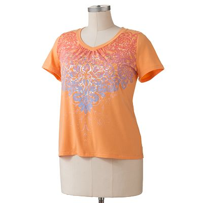 SONOMA life + style Essential Foil Scroll Tee - Women's Plus
