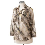 Dana Buchman Animal Lurex Chiffon Blouse Set - Women's Plus