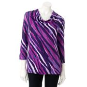 Dana Buchman Striped Drapeneck Top