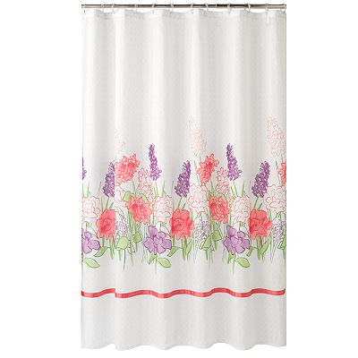 Croft and Barrow Cora Floral Fabric Shower Curtain