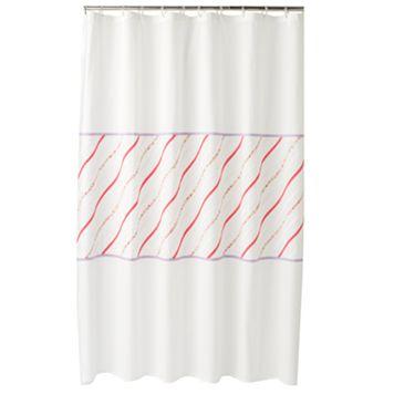 Croft & Barrow® Cora Ruffle Fabric Shower Curtain