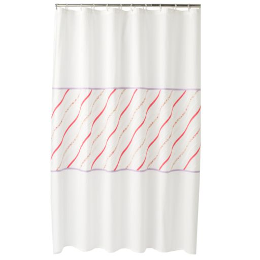 Croft & Barrow® Cora Ruffle Fabric Shower Curtain