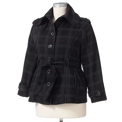 MM Essentials Plaid Fleece Jacket - Women's Plus