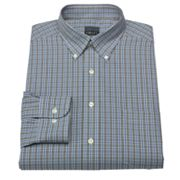 Chaps Classic-Fit Twill Checked Button-Down Collar Dress Shirt