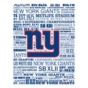 New York Giants Typography Canvas Wall Art