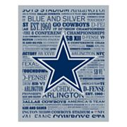 Dallas Cowboys Typography Canvas Wall Art